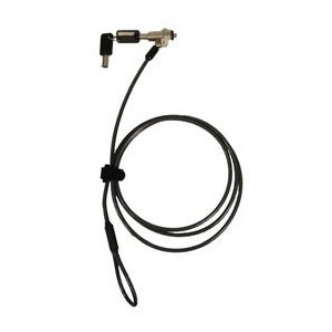 Port Designs 901211 Keyed Laptop Lock- Noble Wedge/Dell Slot (1.8 Meter Length and 4.4mm Thick Cable)