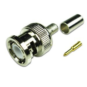 OEM CCTV BNC 3 Piece Male Crimp on Connector