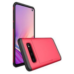 Tuff-Luv A10_172 Dual Layer Armour Credit Card Case for Galaxy S10e - Red