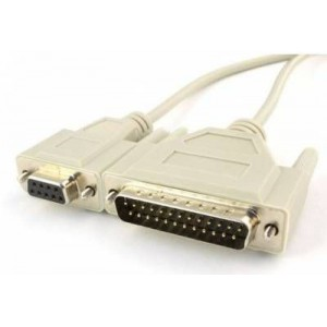 Unitek  DB9F-DB25M-2M09A 2m DB9 Female to DB25 Male Serial Printer Cable (Y-M09A)