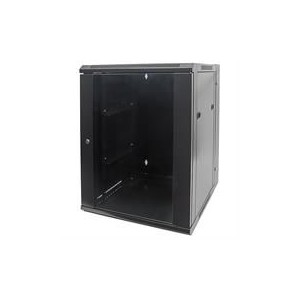 "Intellinet 712019 19"" Double Section Wallmount Cabinet - 15U - Black"