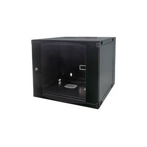 "Intellinet 713825 19"" Double Section Wallmount Cabinet - 6U - Black"