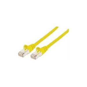 Intellinet 735742 7.5M Yellow Network Cable , CAT6, CU, S/FTP - RJ45 Male / RJ45 Male