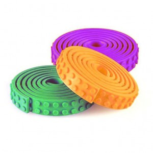 LEGO Compatible Adhesive Tape - 3 Pack (Green/Purple/Orange)