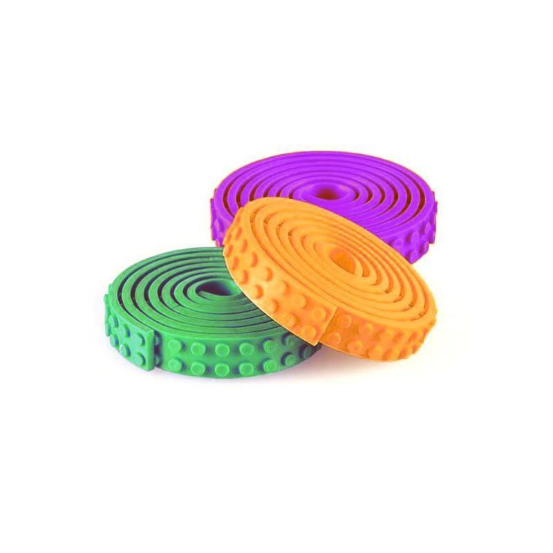 LEGO Compatible Adhesive Tape - 3 Pack (Green/Purple/Orange)