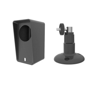 Wyze Cam Pan Silicone Protective Case with Wall Mount Bracket - Black