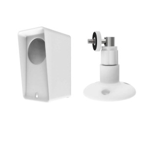Wyze Cam Pan Silicone Protective Case with Wall Mount Bracket - White