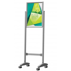 PARROT STAND POSTER FRAME CASTORS DOUBLE SIDED A0