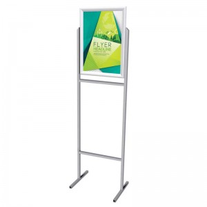 PARROT STAND POSTER FRAME STEEL DOUBLE SIDED A2