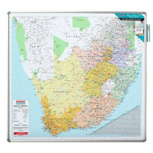 PARROT EDU BD MAP SOUTH AFRICA 1230*1230mm MAGNETIC WHITE