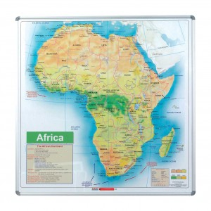 PARROT EDU BD MAP AFRICA 1230x1230mm MAGNETIC WHITE