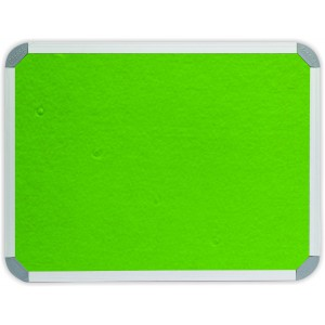 PARROT INFO BOARD ALUMINIUM FRAME 2400*1200MM LIME GREEN