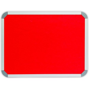 PARROT INFO BOARD ALUMINIUM FRAME 2400*1200MM RED