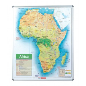 PARROT EDU BD MAP AFRICA 1230x920mm MAGNETIC WHITE