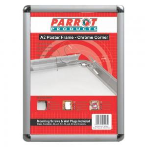 PARROT POSTER FRAME A2 655*480MM CHROME CORNER