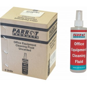 PARROT CLEANING FLUID OFFICE EQUIPMENT 250ML UNCARDED BOX OF 6