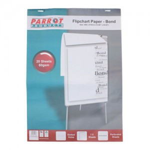 PARROT FLIPCHART PAPER BOND 50 SHEETS 860*610MM 60GSM