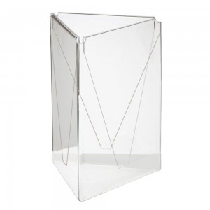 PARROT ACRYLIC MENU HOLDER A5 THREE SIDED TABLE TALKER