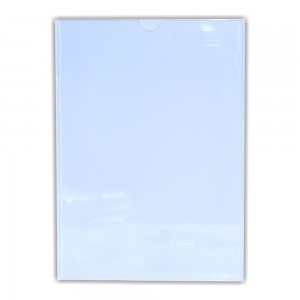 PARROT PERSPEX POCKET CLEAR / WHITE BACKING A3