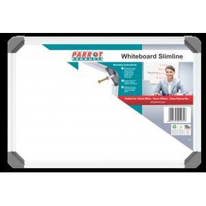 PARROT WHITEBOARD SLIMLINE NON MAGNETIC 300*450MM