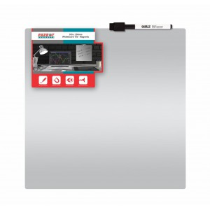 PARROT WHITEBOARD TILE MAGNETIC 360x360mm SILVER