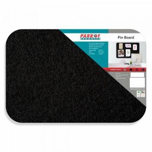 PARROT PIN BOARD ADHESIVE NO FRAME 450*300MM BLACK