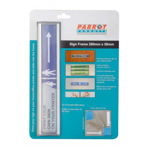 PARROT SIGN FRAME 50 x 280mm RETAIL PACK