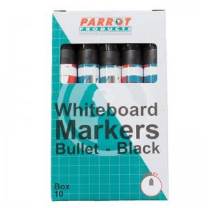 PARROT MARKER WHITEBOARD BULLET BOX 10 BLACK