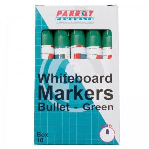 PARROT MARKER WHITEBOARD BULLET BOX 10 GREEN