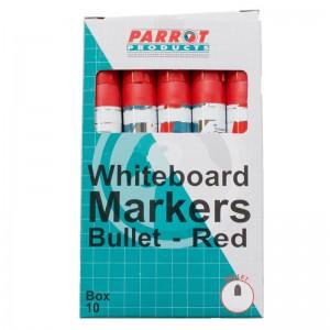 PARROT MARKER WHITEBOARD BULLET BOX 10 RED