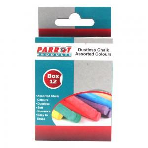 PARROT CHALK DUSTLESS BOX 12 ASSORTED