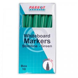 PARROT MARKER WHITEBOARD S/LINE BOX 10 GREEN