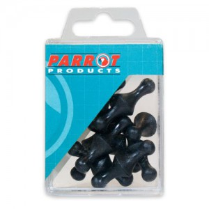 PARROT MAGNETS MAP PINS (25/BOX) BLACK 16mm