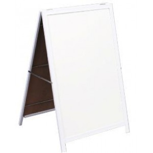 PARROT A FRAME WHITEBOARD NON-MAG STEEL FRAME 900*600MM