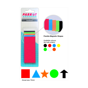 PARROT MAGNETIC FLEXIBLE SHAPES 15MM (50 PACK) ASSORTED