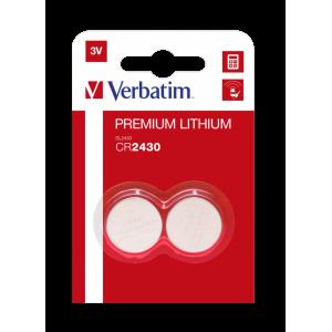 Verbatim M49937 CR2430 Lithium Button Battery 3V 2S (10 Pack)
