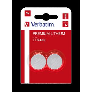 Verbatim M49938 CR2450 Lithium Button Battery 3V 2S (10 Pack)