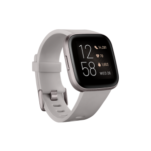 Fitbit Versa 2 Smartwatch - Stone (with Small and Large Bands)