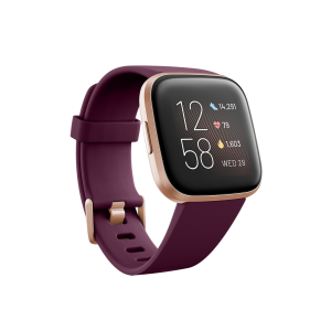 Fitbit Versa 2 Smartwatch - Bordeaux/ Copper Rose (with Small and Large Bands)