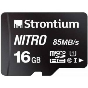 Strontium SRN16GTFU1QR 16GB Nitro Micro SD Card Up To 85MB/s