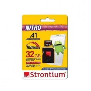 Strontium SRN32GTFU1A1A 32GB Micro SDXC UHS-1 U1 Class10 Card with SD Adaptor
