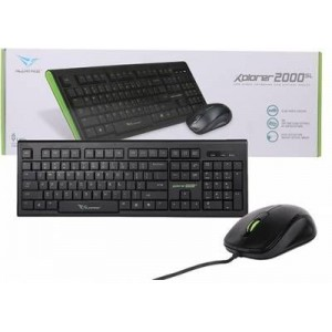 Alcatroz 2000BGR Xplorer 2000 USB Keyboard and Mouse Combo Black and Green