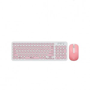 Alcatroz A2000WP A2000 White & Peach Wireless Keyboard Mouse Combo