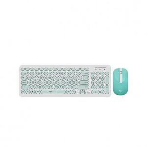 Alcatroz A2000WM A2000 White & Mint Wireless Keyboard Mouse Combo