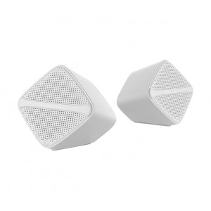SonicGear SONICCUBEW Sonic Cube High Clarity 2.0 USB Speaker - White