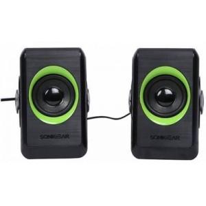 SonicGear Quatro 2 Super Loud USB Stereo Speaker Black and Lime Green