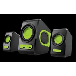 SonicGear Quatro V - USB Powered 2.1 Speaker Black and  Lime Green