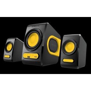 SonicGear Quatro V - USB Powered 2.1 Speaker Black and  Sunny Orange