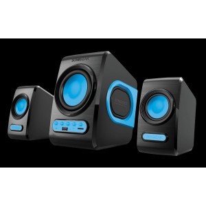 SonicGear Quatro V - USB Powered 2.1 Speaker Black and Turquila
