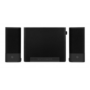 Sonicgear Space 3 Space Saving Bluetooth 2.1 Speakers Black and Grey